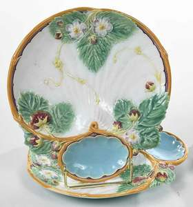 Five Majolica Shell Plates