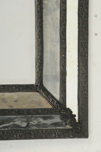 Neoclassical Repousse and Mirror Framed Mirror