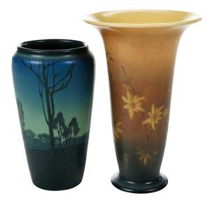 Two Hand Painted Rookwood Vases
