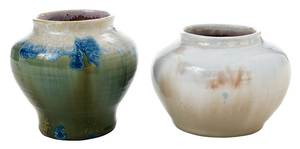 Two Pisgah Forest Chrystalline vases