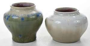 Two Pisgah Forest Chrystalline vases
