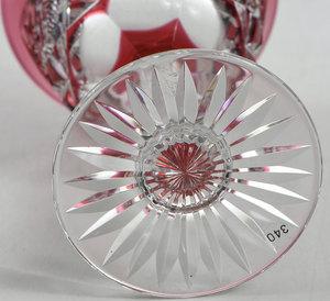 Pair Dorflinger Brilliant Period Cut Glass Stems