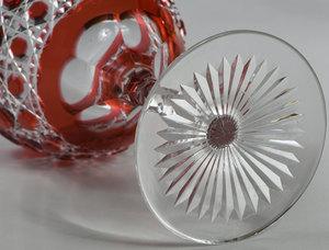Three Brilliant Period Cut Glass Stems