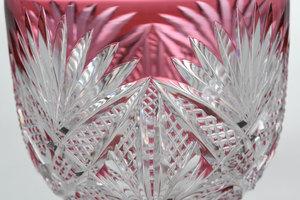 Five Dorflinger Brilliant Period Cut Glass Stems