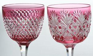 Eight Assorted Brilliant Period Cut Glass Stems