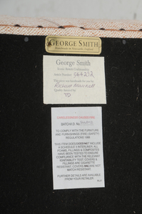 George Smith Mahogany and Tufted Ottoman