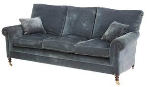 A George Smith Blue-Upholstered Sofa