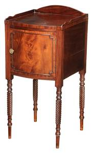 Sheraton Figured Mahogany Bedside Cabinet