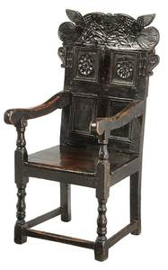 British Carved Oak Great Chair