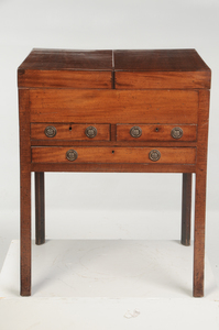 Chippendale Mahogany Beau Brummel Dressing Table