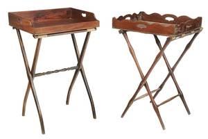 Two Georgian Mahogany Butler's Tray Tables