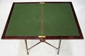 Edwarian Inlaid Fold Over Games Table