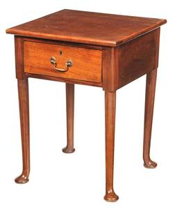 Queen Anne Style Mahogany Side Table