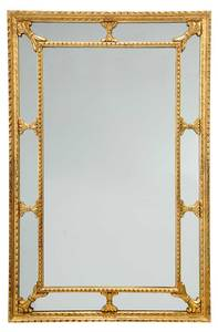A Giltwood and Mirror Framed Mirror
