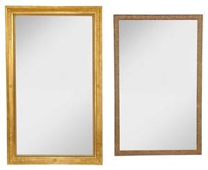 Two Large Gilt Framed Mirrors