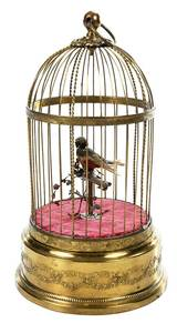 Mechanical Singing Bird Cage
