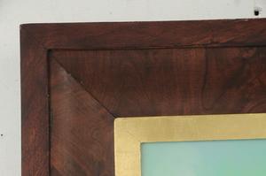 Mahogany Gilt Mirror With Reverse Painting