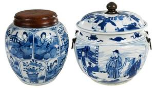 Two Blue and White Chinese Vessels