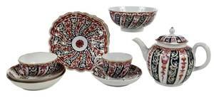 Nine Pieces Barr Worcester Porcelain