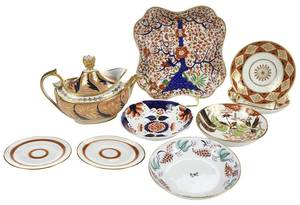 Nine Pieces Assorted English Porcelain