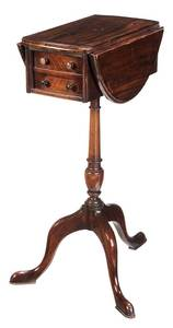 Regency Style Mahogany Sewing Table