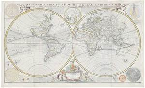 Moll - A New and Correct Map of the World, 1709