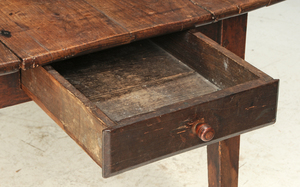 A French Provincial Fruitwood Harvest Table