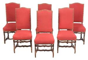 Set of Six Queen Anne Style Dining Chairs