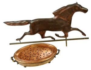 Copper Brazier and Horse Weathervane