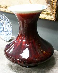 Monumental Sang de Beouf Vase