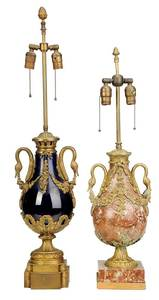 Two Empire Style Gilt Bronze Table Lamps
