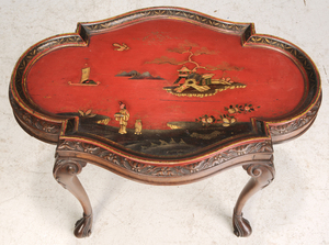 Queen Ann Style Chinoiserie Decorated Low Table