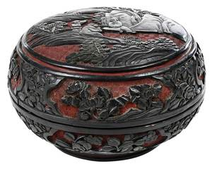 Cinnabar Black and Red Domed Box