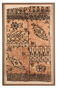 Framed Hawaiian Tapa Cloth