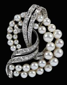 Platinum, Diamond & Pearl Brooch