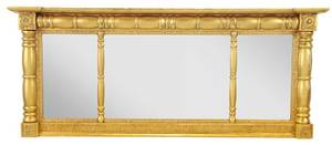 A Federal Style Giltwood Tryptic Mirror