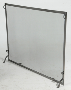 Large Rod Iron Spark Screen, Rocking Chair
