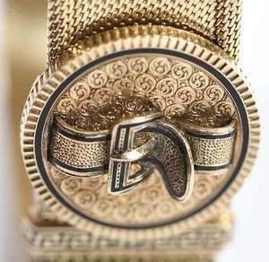 Antique 14kt. Slide Bracelet