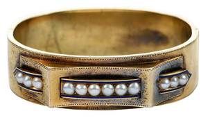 Antique 14kt. Pearl Bracelet