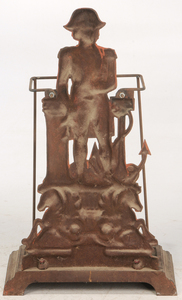 Horatio Nelson Figural Cast Iron Umbrella Stand