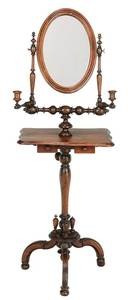 Victorian Shaving Stand and Hanging Shelf