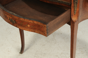 Louis XV Style Marquetry Inlaid French Desk