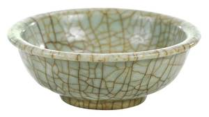 Longquan Celadon Crackle Glaze Bowl