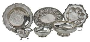 Six Sterling Table Items
