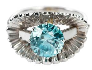 14kt. Blue Zircon Ring