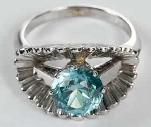 14kt. Blue Zircon Ring