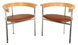Pair of Paul Kjaerholm Dining Chairs