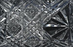 Four Brilliant Period Cut Glass Relish Dishes