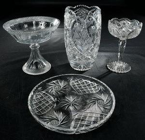 Four Brilliant Period Cut Glass Items