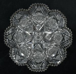 Brilliant Period Cut Glass Plate
